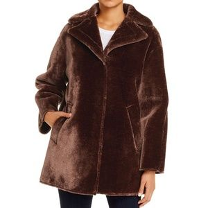 NWT Tahari Brown Faux Fur Coat Beaver